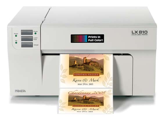 LX810 label printer