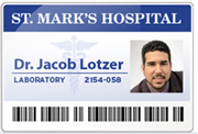 Medical ID Name Badge