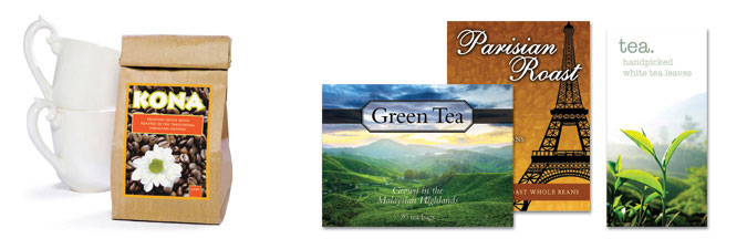 Coffee and Tea Labels