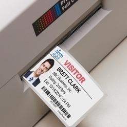 Primera LX400 printing tab expiring name badges